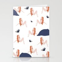 naked Stationery Cards featuring Naked by .eg.