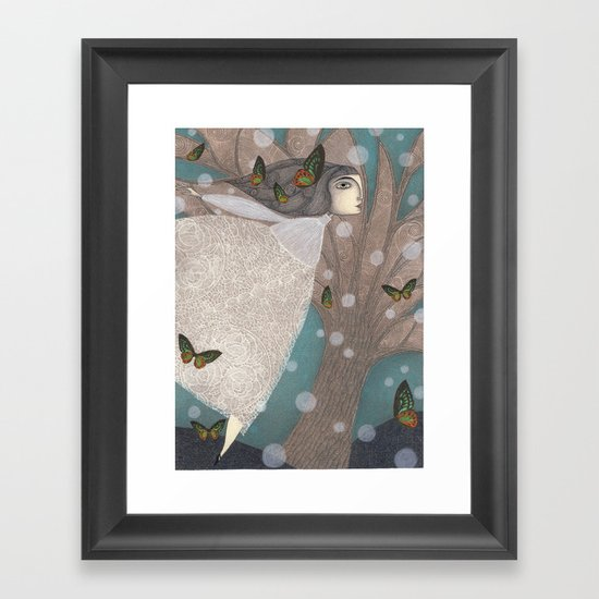 Finding Winter Framed Art Print