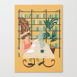 Sunday Morning Vibe in yellow Canvas Print