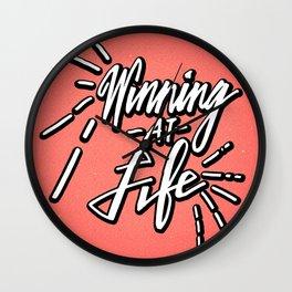 Winning At Life Wall Clock