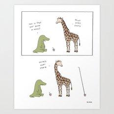 Biggest Straw  Art Print