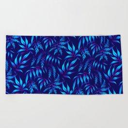 Brooklyn Forest - Blue Beach Towel