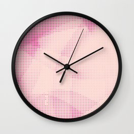 Pink and Rose Colored - Optical Game 24 Wall Clock