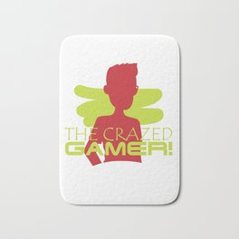 The Crazed Gamer Gaming Games Lover Madness Shirt Bath Mat