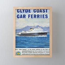 cartello Glyde Coast Car Ferrys Framed Mini Art Print