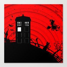 Tardis Halloween Canvas Print