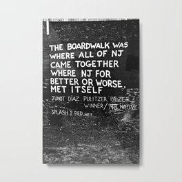 Asbury Park Boardwalk Metal Print
