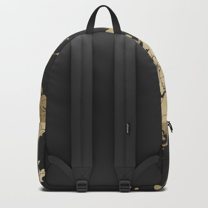 Boston Black and Gold Map Backpack