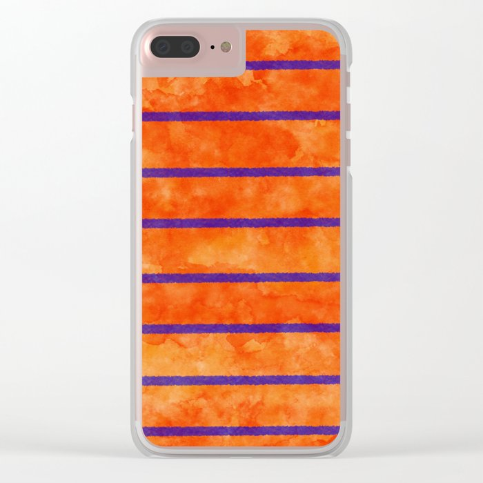 Summer in Orange Clear iPhone Case
