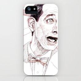 Pee Wee Herman by Aaron Bir iPhone Case