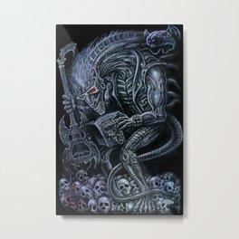 Alien Punk Rocker Outer Space Monster Metal Print