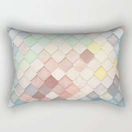 Colorful Mosaic Pattern Rectangular Pillow