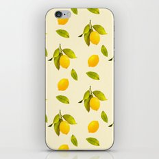 Lemon Pattern iPhone & iPod Skin