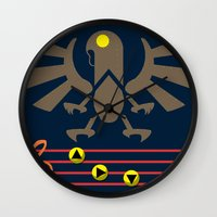 bioshock infinite Wall Clocks featuring Bioshock Infinite: Song of the Songbird by Macaluso