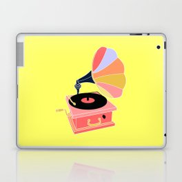 Multicolor Gramophone on Pale yellow Home Decor Room Furnishing Contemporary Wall Graphic Design  Laptop & iPad Skin