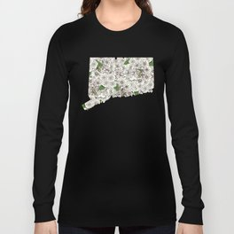 Connecticut in Flowers Long Sleeve T-shirt