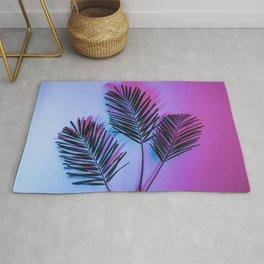 Seapunk Palm Leaves, Palm Leaf, Palm Tree Lover, 80s vibes Rug