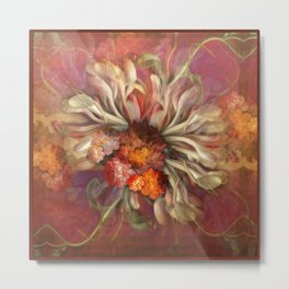 """Rose Gold Flower Bouquet"" Metal Print"