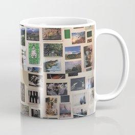 Postcards Wall Coffee Mug