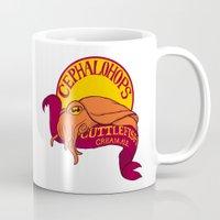ale giorgini Mugs featuring Cuttlefish Cream Ale by Caffeine and Carpal Tunnel