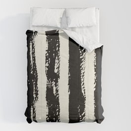 Simply Cream and Black Stripes II Comforters
