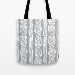 Cable Grey Tote Bag
