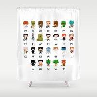 ewok Shower Curtains featuring Star Wars Alphabet by PixelPower