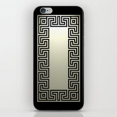 Greek Key black iPhone & iPod Skin