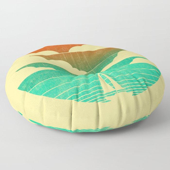 Go West (sail away in my boat) Floor Pillow