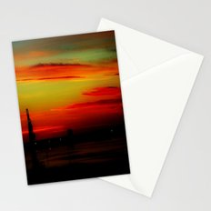 Morning at the Harbour Stationery Cards