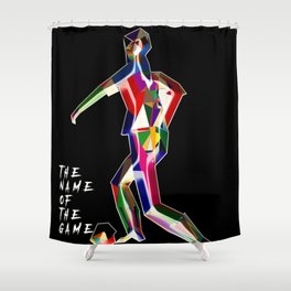 the name of the game....football Shower Curtain