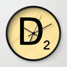 Scrabble D Decor, Scrabble Art, Large Scrabble Prints, Word Art, Accessories, Apparel, Home Decor Wall Clock