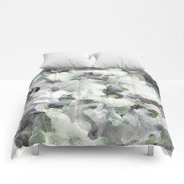Green and Purple Foliage Comforters