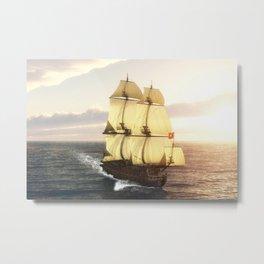 French Warship Metal Print