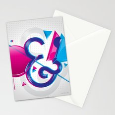 Circles & Triangles Stationery Cards