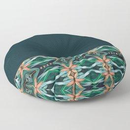 Rainforest Pattern - ocelot spots II Floor Pillow