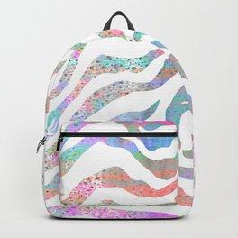 colorful zebra pattern Backpack