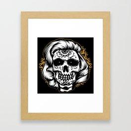 Marlyn skull Framed Art Print