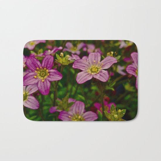 Sweet Little Pink Flowers Bath Mat