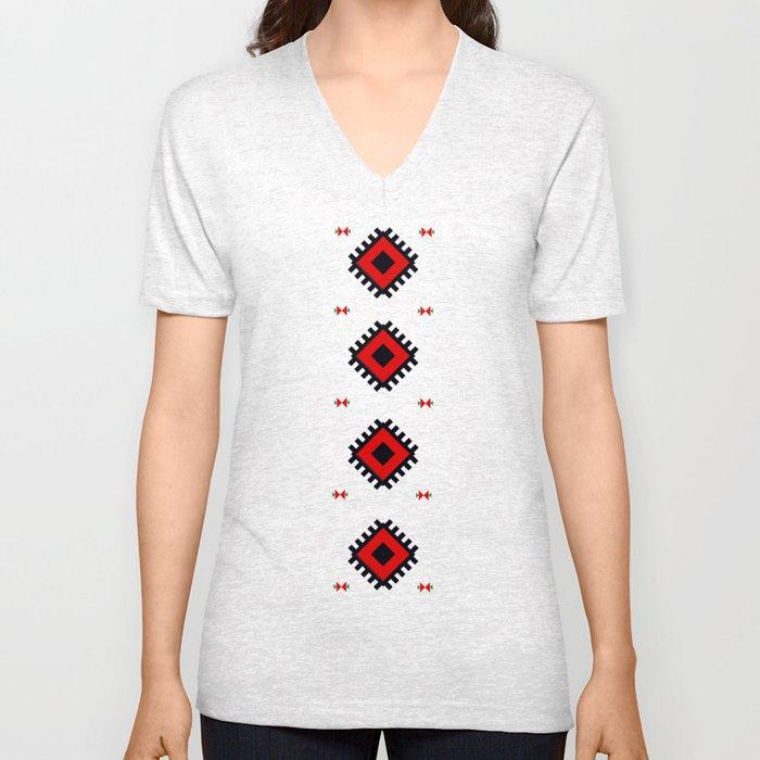 Romanian Pattern Unisex V-Neck