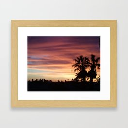 Pink & Orange Hollywood  Framed Art Print