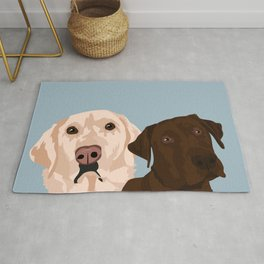 2 Labradors Rug