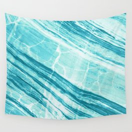Abstract Marble - Teal Turquoise Wall Tapestry