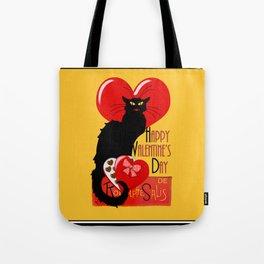 Le Chat Noir Valentine Tote Bag