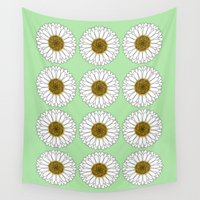 daisy Wall Tapestries featuring Daisy by Lorelei Douglas