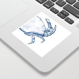 Coastal Crab in Watercolor, Navy Blue (Right Half in Set) Sticker