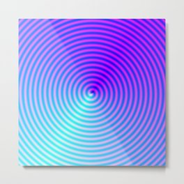 Coiled in Blue and Pink Metal Print