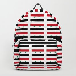 flag of syria -syrian,aleppo,damascus,assyrian,سوريا Backpack