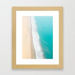 Aerial Beach, Santa Monica Framed Art Print