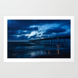 Blue Sunrise Art Print